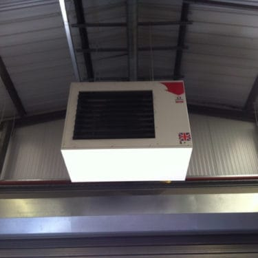Newly installed commercial heating South Wales