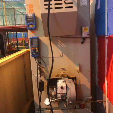 Collier Oil Benson Warm Air Heater Installed